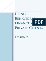 Behavioural Finance with Private Clients