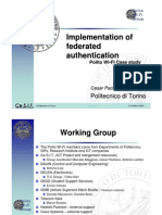 Implementation of Federated Authentication Polito