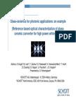 Glass-ceramics for photonic applications