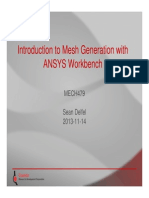 Introduction to Mesh Generation with ANSYS Workbench