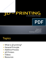 3D printing - A quick guide