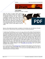 Of Cows and Saudi Arabia