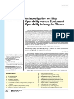 Ship Operability Versus Equipment Operability