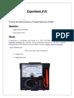 Different Functions Of Digital Multi-meter (DMM)