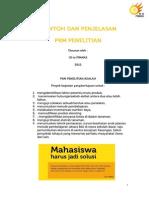 Contohdan Penjelasan PKM Penelitian Awal