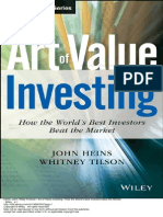 Wiley Finance Art of Value Investing How the World s Best Investors Beat the Market 1 to 60