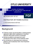 3. Audio-Lingual Method - Eclass