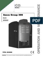 Manual Saeco Group 200