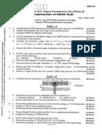 Vtu Question Paper 06ec56 Fundamental of Cmos Vlsi Dec 09 Jan 10