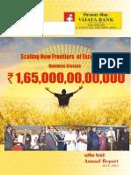 Annual Report - Vijaya Bank