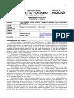 Políticas de SM y Subjetividad en Chile