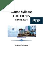 EdTech 505 Course Syllabus