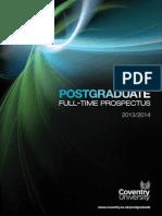 Coventry University FT PG Prospectus 2013-14