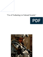 Use of Technology in National Security - Presentation