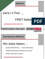FIRST Robotics-Safety Basics
