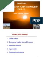 Rajasthan Solar Pump Presentation