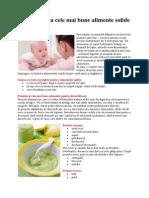 Diversificarea Cele Mai Bune Alimente Solide Pentru Bebe