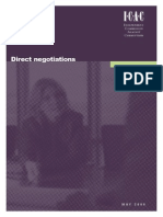 Direct Negotiations - Guidelines for Managing Risks