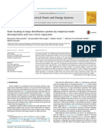 Fault locating in large distribution systems by empirical mode decomposition and core vector regression