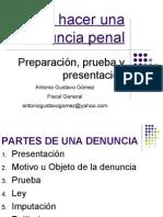 Instructivo de Denuncia Penal - Antonio Gustavo Gomez