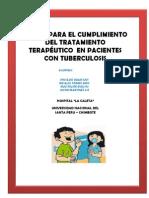 MANUAL PARA EL CUMPLIMIENTO DEL TRATAMIENTO TERAPÉUTICO  EN PACIENTES CON TUBERCULOSIS