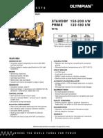 Catalogo Generador Olimpian 150-200 kW