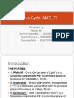 Intel vs Cyrix, AMD, TI