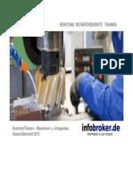Maschinen- und Anlagenbau BranchenThemen Gesamtübersicht 2013