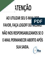 E-mail aberto no pc