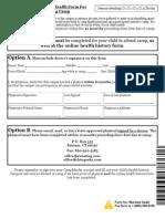 Staff Medical Form