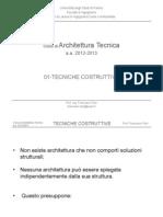 01-At Tecniche Costruttive 12-13 - Corso Architettura Tecnica