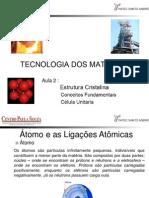Tecnologia Dos Materiais_Aula 2_ Estrutura Cristalina_2o Semestre 2013.Ppt