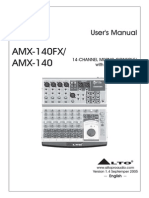 Alto Amx-140fx - User's Manual