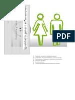 Igualdad de género en el trabajo