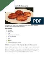 Parjoale Din Cartofi Si Cascaval