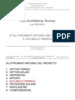 07-AT_Gli Strumenti Naturali Del Progetto - Accumulo Termico_12-13 - Corso Architettura Tecnica