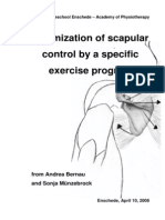 Scapula strengthening exercises evidence and summary.