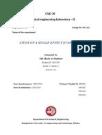 Study of a Single Effect Evaporator