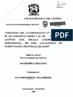 Geologia Provincia Del Napo