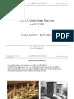 12-AT_ Gli Impianti Efficienti_12-13 -  Corso Architettura Tecnica
