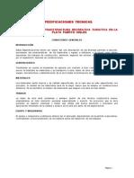 Espec. Tecnicas Infraestructura Recreativa Turistica Puerto Ingles