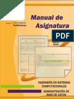 M.A. Administración de Base de Datos