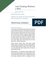 Proposal Training Motivasi Untuk MOS