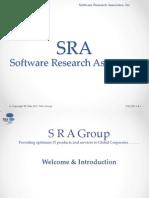 SRA R11 & R12 Workshop