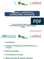 Evaluacion Ahorradores de Energia Rosa E Llamas