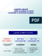 Legislatie SSM- Prezentare