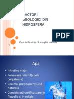 Factorii Geologici Din Hidrosferei