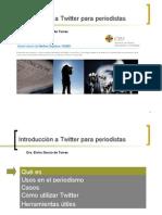 Introducción a twitter para periodistas