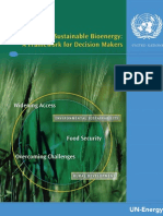 Sustainable Bionergy