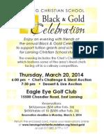 LCS Black & Gold Invitation
